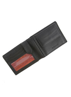 Smooth Leather Trifold Wallet with RFID Blocking Protection