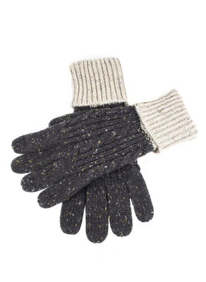 Black//Blue Dents Mens Newburgh Knitted Gloves