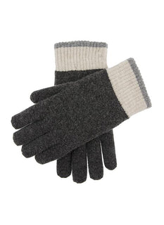 Men's Contrast Cuff Knitted Gloves