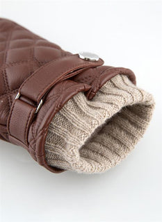 Men's Wool Lined Quilted Leather Gloves