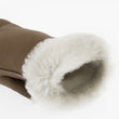 Women's Sheepskin Fingerless Mittens