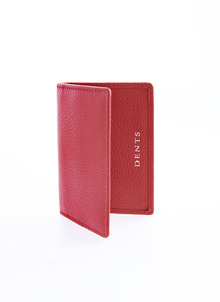 Pebble Grain Leather Card Holder with RFID Blocking Protection