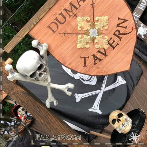 Dumas Tavern Sign with Flag display