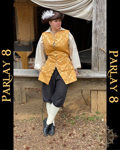 Long Gold Yellow Vest - Men's Medium 18th Century Style