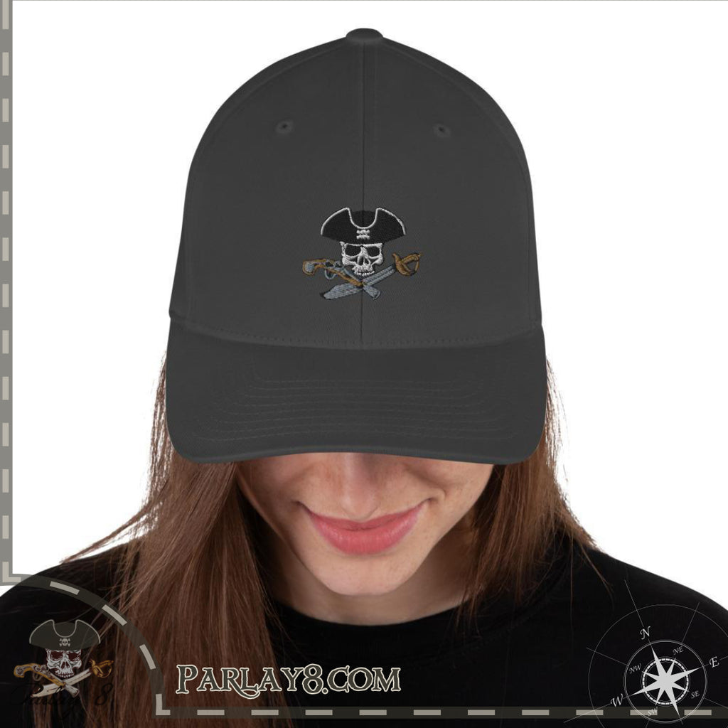 Jolly Roger logo with Parlay 8 tag Structured Twill Cap