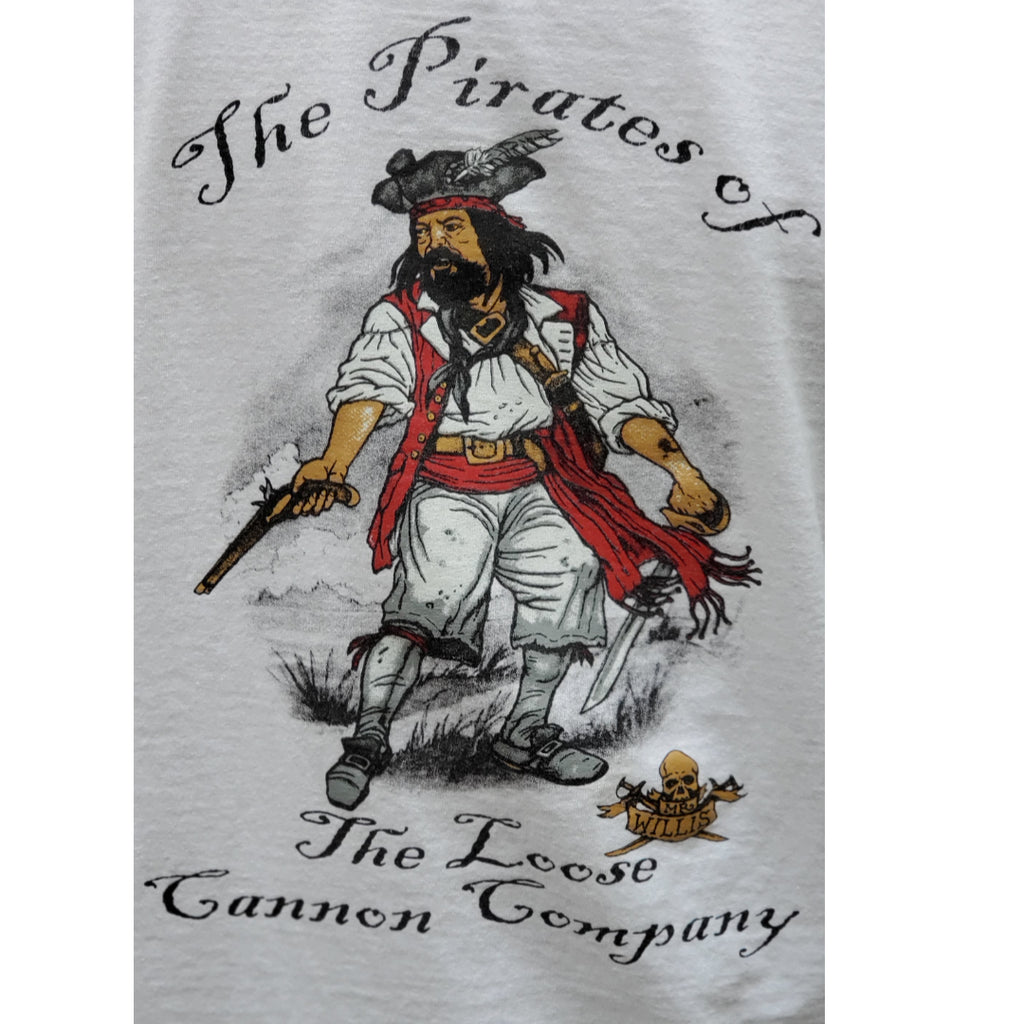 The Pirates Of the Loose Cannon Company Mr. Willis Logo Pirate Adult T Shirt