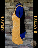 Men's Medium 18th Century Long Gold Yellow Pirate Vest