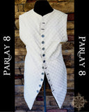 Long White Circle Vest - Men's 18th Century Style