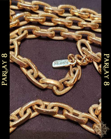 Monet Long Gold Link Chain
