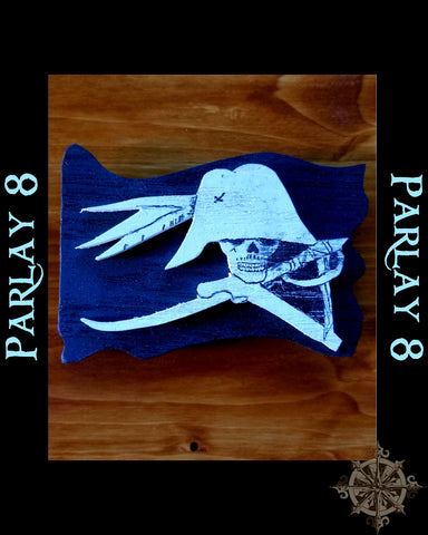 Wood Parlay 8 Painted Magnet