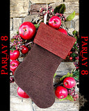 Pirate themed Brown and Red Christmas Stocking
