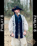 Long POTC Inspired Vest - Dead Men Tell No Tales Men's Extra Large 18th Century Style
