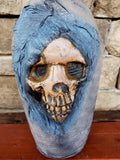 Weathered Leather Skull Bottle