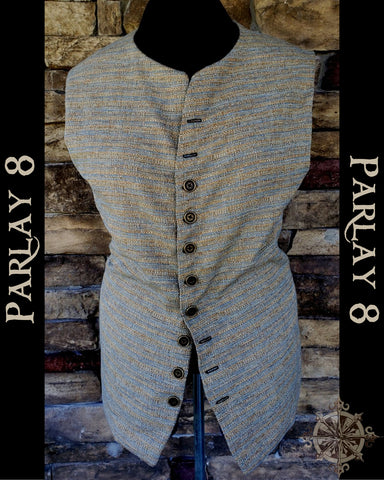 Short Color Weave Vest - Men's 18th Century Style
