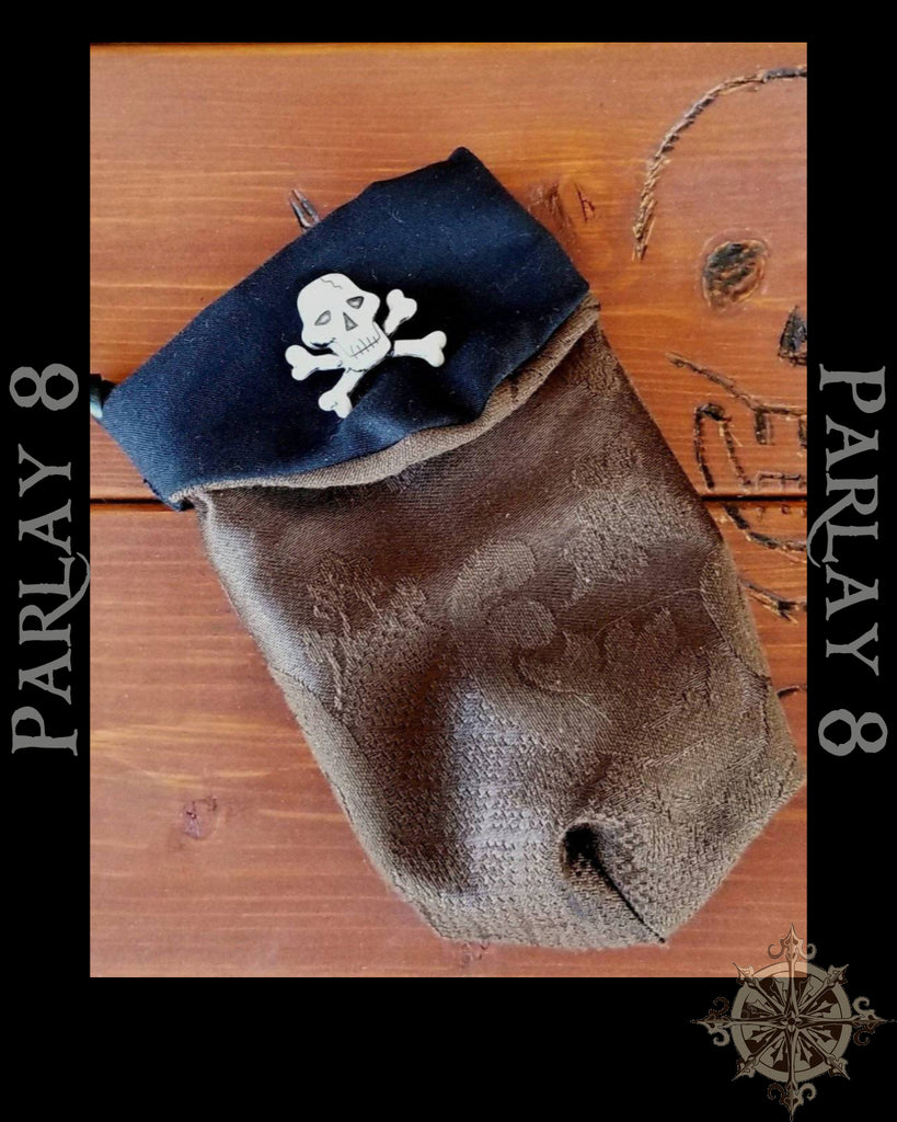 Small Jolly Roger Renaissance Drawstring Coin Purse