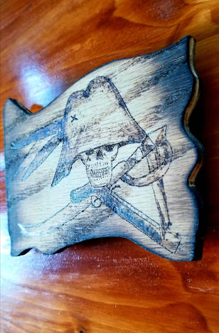 Wood Parlay 8 Burned or Painted Magnet