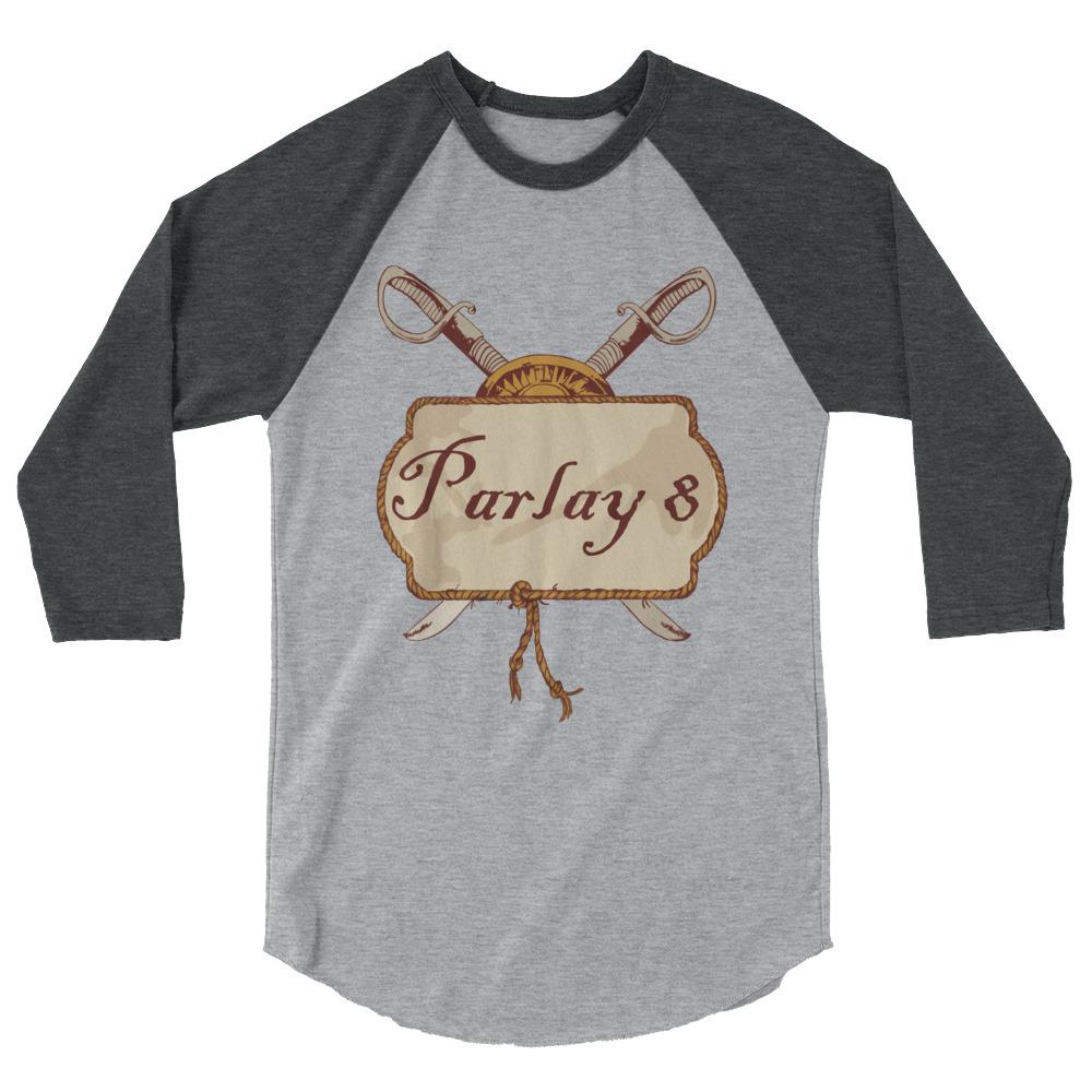 Parlay 8's Tavern Pub Sign 3/4 sleeve raglan shirt