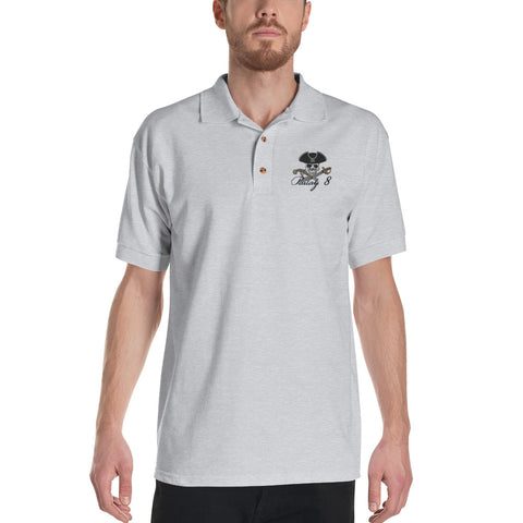Parlay 8 Jolly Roger Embroidered Polo Shirt