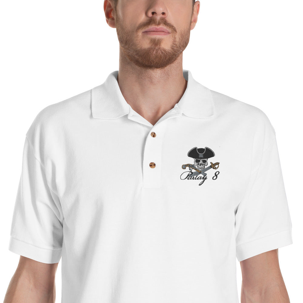 Parlay 8's Jolly Roger Embroidered Polo Shirt