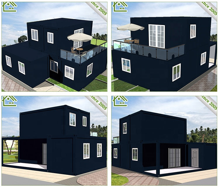 2018 New design luxury 20ft prefab container homes for sale 20 footer container house with 3 bedroom house container home