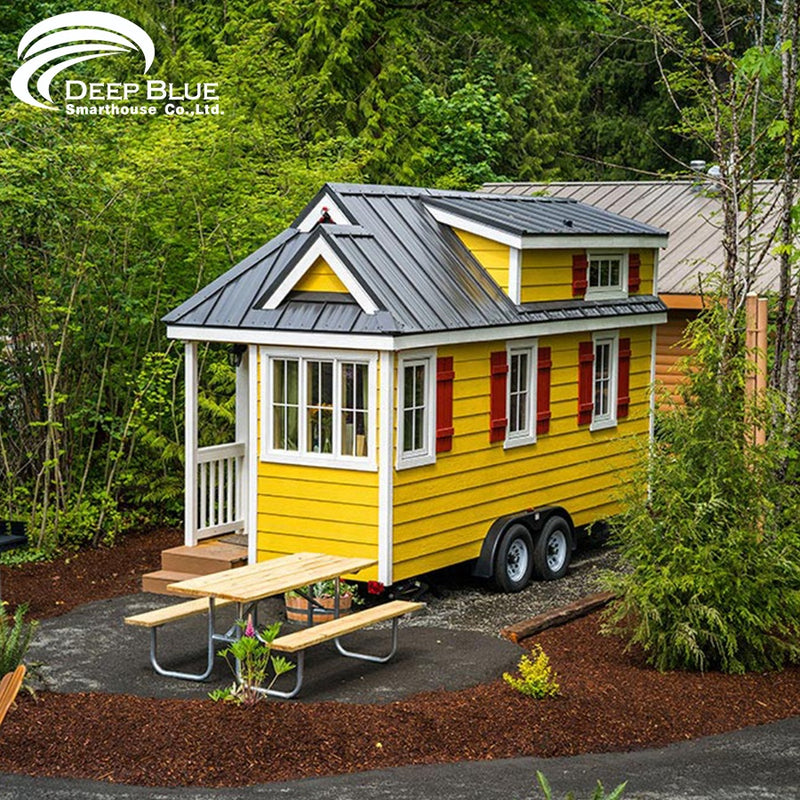 Deepblue Smarthouse High quality double-stories on wheels prefab tiny house