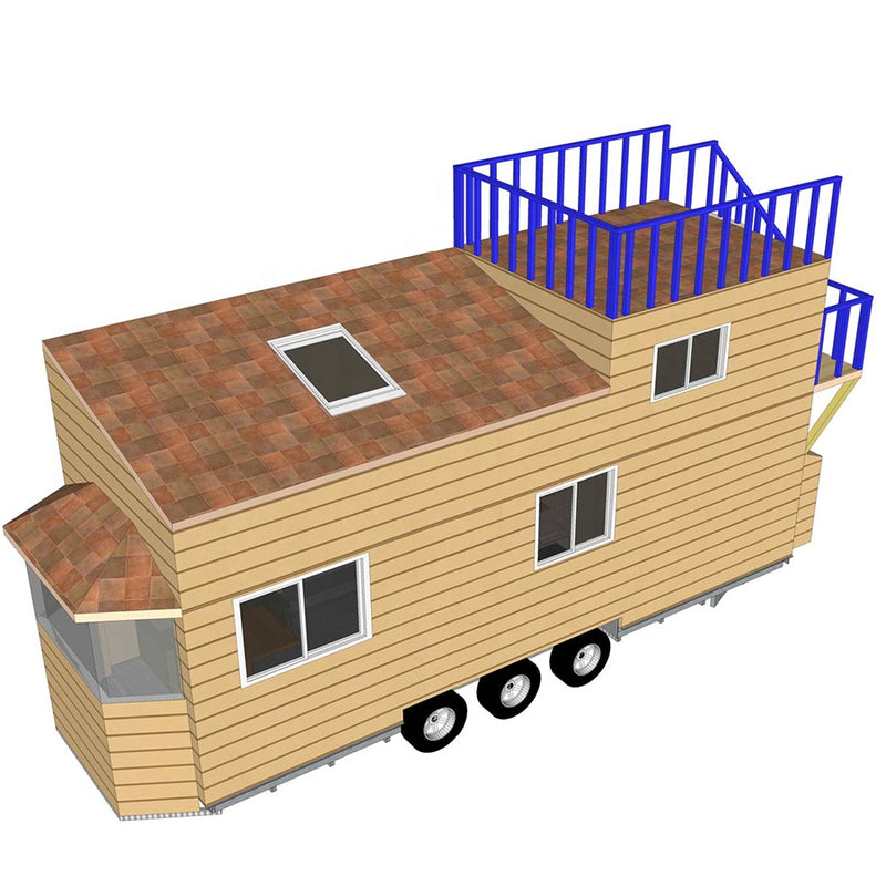 Deepnlue Smarthouse Modern Prefab Light Steel Frame Tiny House on trailer for wholesale