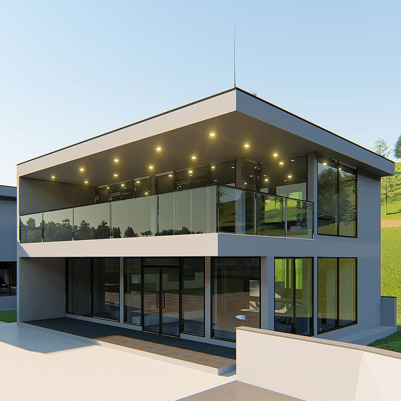 Factory price modern modular resort villa light steel prefabricated houses