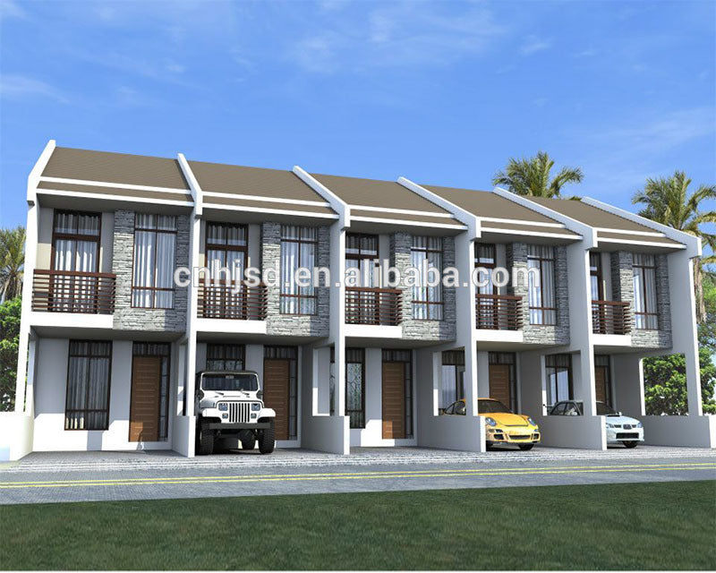 Fast construction 4 bedroom Mexico prefab house townhouse