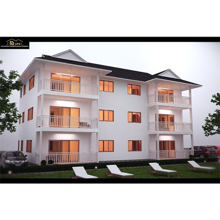 Four Bedroom Durable turnkey prefab house apartment for Africa