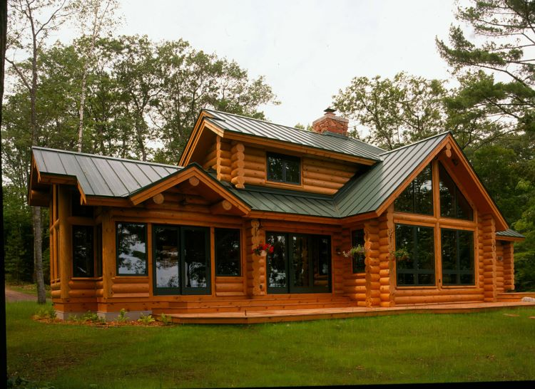 Hiawatha Modern Log Home