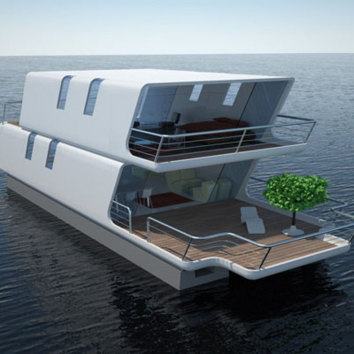 Modern designed modular rotomolding floating house for outdoor