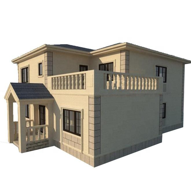 New Design   Light Weight Steel Structure Prefab Houses Cheap Modular House Townhouse  For Sale