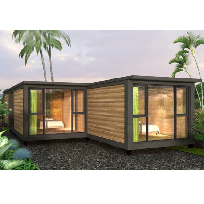 Prefab cottage Resort Log cabin 3 Bedroom Container Mobile Modern prefabricated house