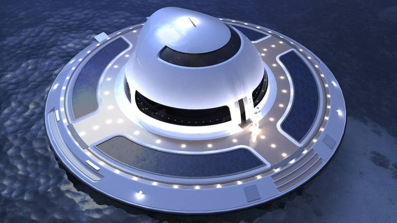 UFO floating house by modular design floating home on water