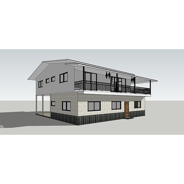 UPS prefab cement housing project CE certified rapid construction of earthquake-resistant light steel villa