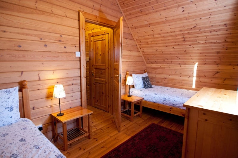 cozy 3 bedrooms prefabricated wood house/cabin/log cabin for countryside living