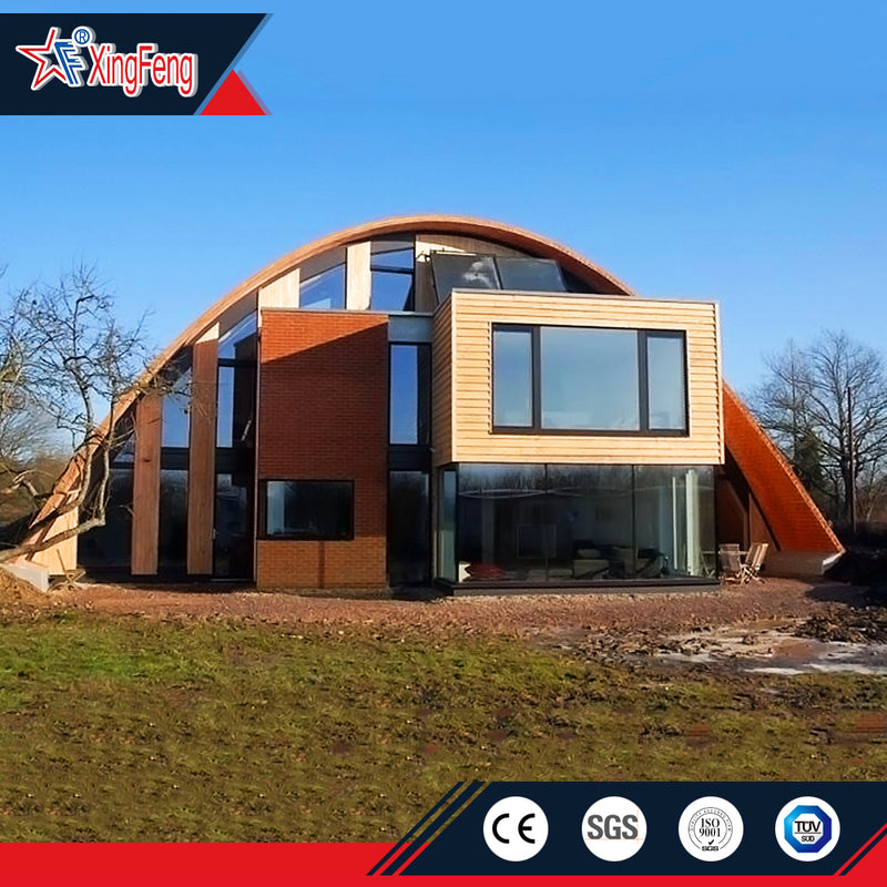 steel structure dome house/new arched home/modular dome house price
