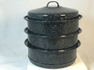 3 stacked pots - A solar cooker game changer