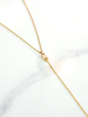 Teardrop Diamond Y Necklace