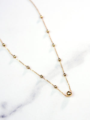 Gold Sphere Necklace