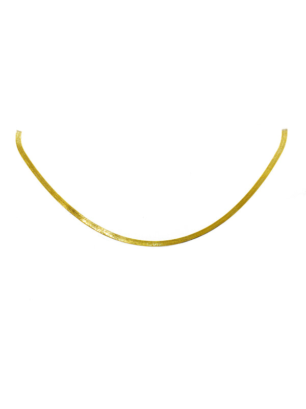 Herringbone Loose Choker 14k Gold