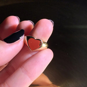 My Heart Signet ring 14K