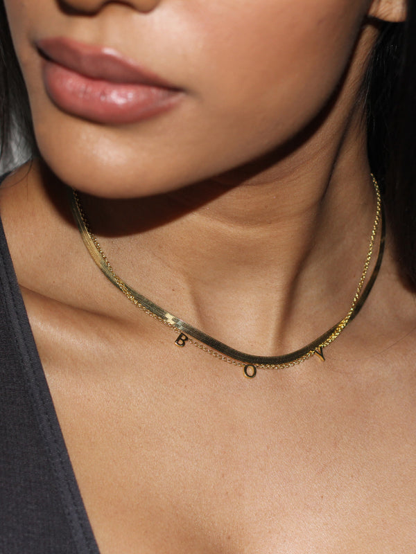 BOYFRIEND COLLECTION - BOY in solid 14k Gold loose choker