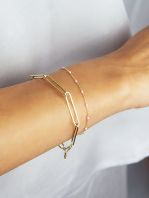 Linked Bracelet in 18k Gold