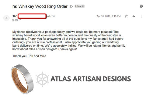 Image of 6mm Whiskey Barrel Ring Mens Wedding Band Wood Ring - Atlas Artisan Designs