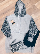 Load image into Gallery viewer, Jordan Leopard Color Block Hoodie