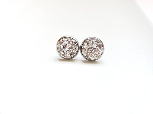 Spiffy and Splendid Druzy Stud Earrings(14 colors)