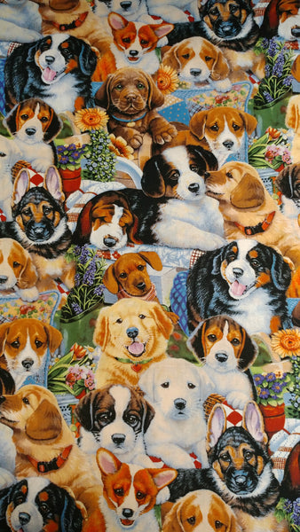 "Puppy all-breed print Cotton - 44""wide"
