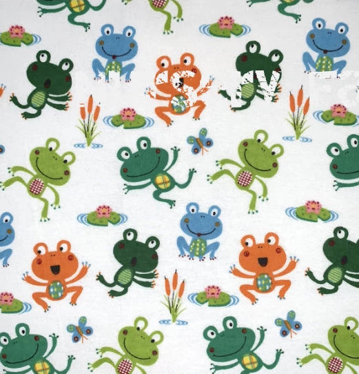 "Happy Frog Flannel (44""wide)"
