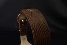 Load image into Gallery viewer, Brown Croc Leather Collar